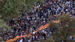 Cataluña se paraliza y sale a la calle para reivindicar el