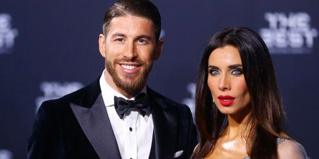 Sergio Ramos y Pilar Rubio en la ceremonia de los premios de la FIFA, en enero de