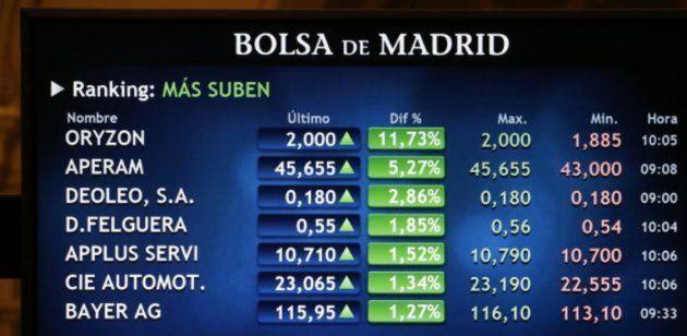 Imagen de la Bolsa de Madrid este