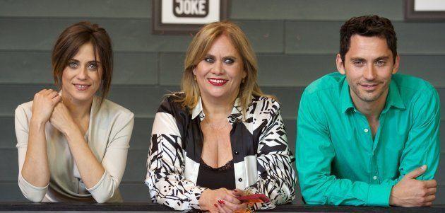 María León, Carmina Barrios y Paco