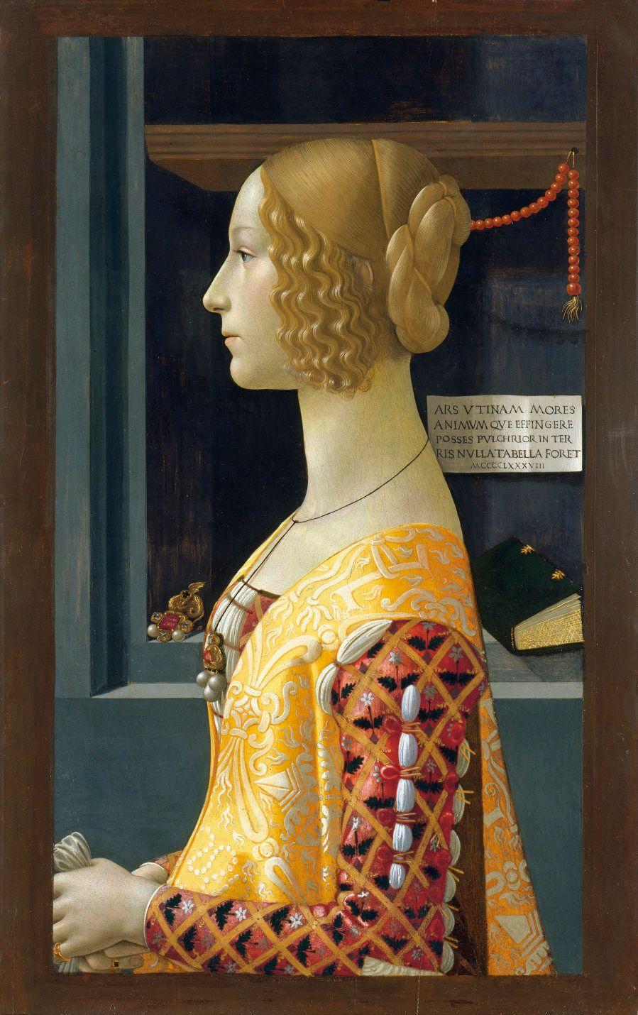 GHIRLANDAIO, Domenico. Retrato de Giovanna
