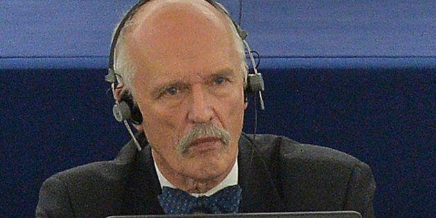 Imagen de archivo de Janusz Korwin-Mikke, sancionado por sus declaraciones sobre las