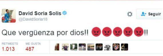 El tercer portero del Sevilla explota en Twitter contra el árbitro Mateu