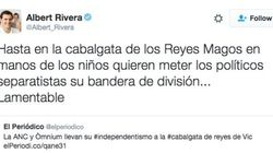 Rivera critica la politización de las cabalgatas y Twitter le recuerda