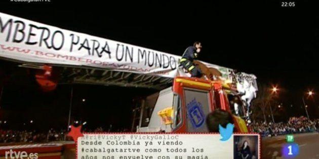 El original lema de los bomberos de Madrid en la Cabalgata de