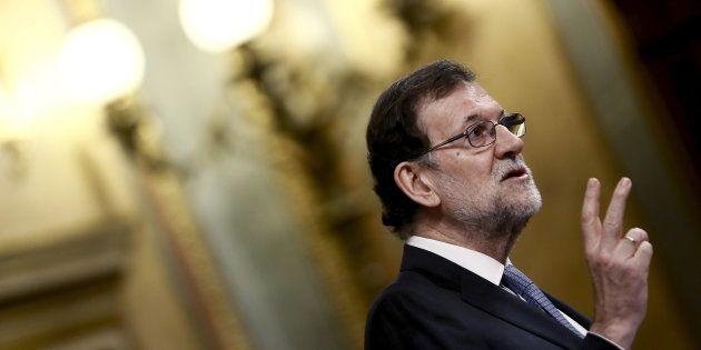 El presidente del Gobierno, Mariano Rajoy, durante su intervención de este 15 de marzo en el