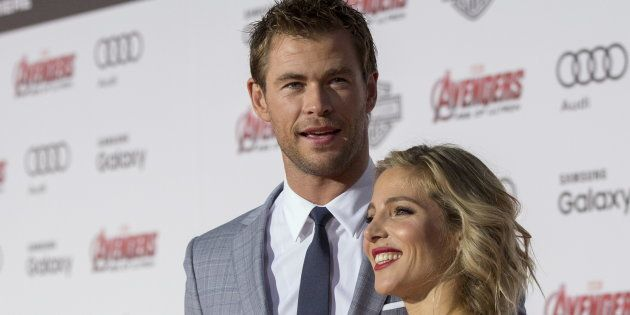 Chris Hemsworth y Elsa Pataky en el estreno de 'Los Vengadores: La era de Ultron' en Hollywood el 13...
