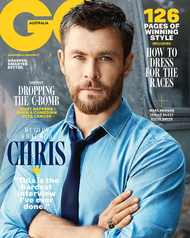 Chris Hemsworth en la portada de la revista 'GQ