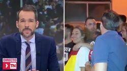 La pillada a un periodista de Telemadrid en una manifestación en