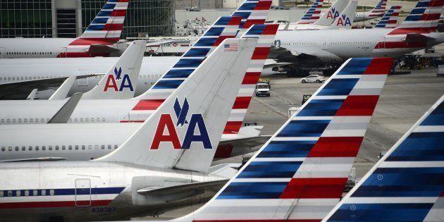 Aviones de American Airlines en el aeropuerto de Miami (EEUU), en una imagen de