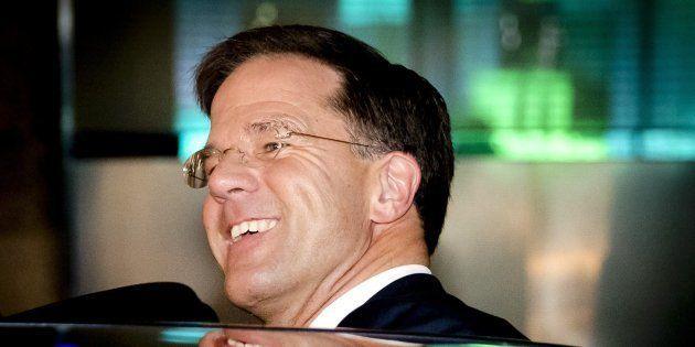 El primer ministro holandés Mark Rutte, del Partido del Pueblo para la Libertad y la Democracia (VVD),...