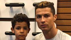 El mensaje viral de Ronaldo con su hijo contra la guerra de