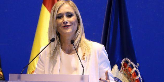 La presidenta de la Comunidad de Madrid, Cristina Cifuentes, en los actos de celebración de los Santos...