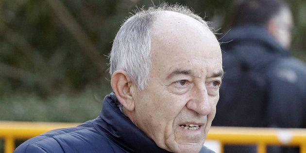 El exgobernador del Banco de España Miguel Ángel Fernández Ordóñez, a su llegada a la Audiencia Nacional,...