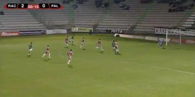 El Racing de Ferrol marca uno de los goles más extraños de la