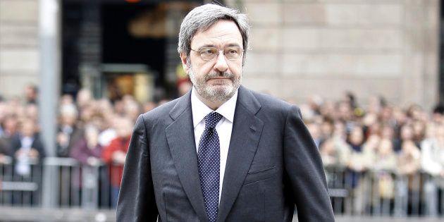 Narcís Serra, en una imagen de 2010, en el funeral de Juan Antonio Samaranch en