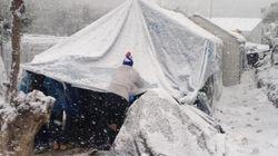 SOS de MSF: miles de refugiados, atrapados por el frío y la