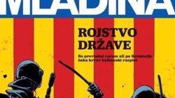La brutal portada de una revista eslovena sobre las cargas policiales en