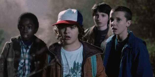 Los niños de 'Stranger Things' dejan chafada a Amy Adams en los Globos de