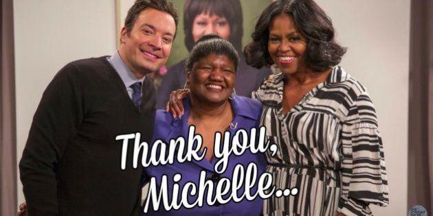 El sorpresón de varios admiradores de Michelle Obama al verla en