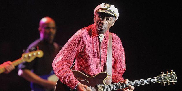 Chuck Berry, durante una actuación en abril de 2014 en Moscú,