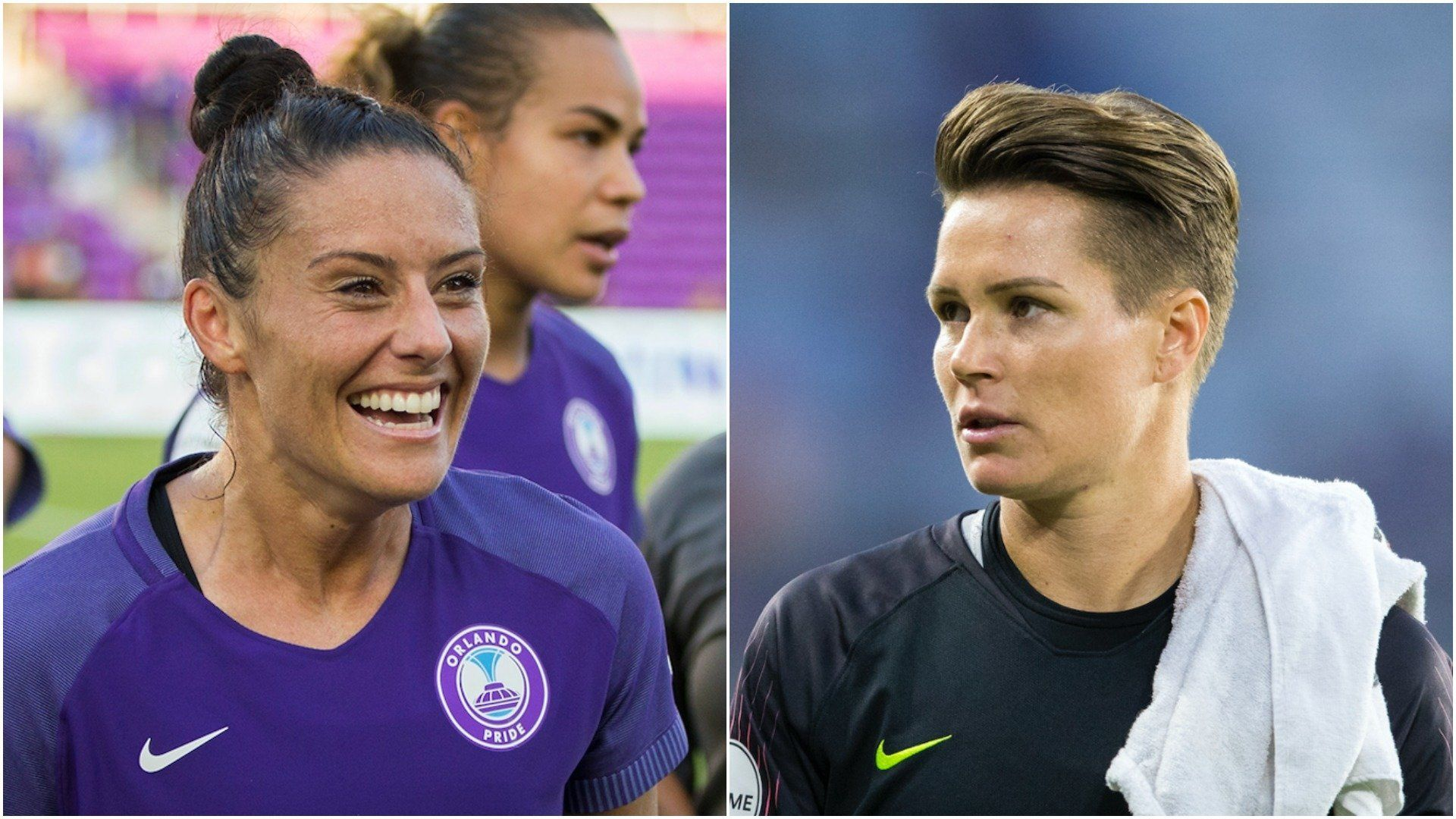 National Women's Soccer League stars Ali Krieger (left) and Ashlyn Harris announced their engagement this week.
