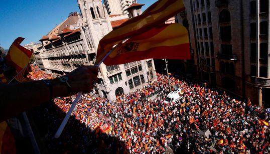 Las espectaculares imágenes aéreas de la manifestación por la unidad de España en