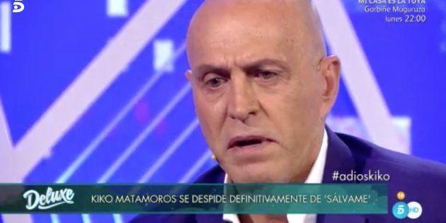 Kiko Matamoros abandona 'Sálvame' tras 8 años y explica por