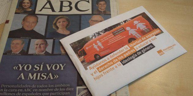 El Observatorio contra la LGBTfobia pide expedientar a 'ABC' por repartir el panfleto de 'Hazte