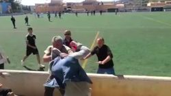 Brutal batalla campal en un partido de fútbol infantil en