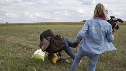Tres años de libertad condicional para la periodista húngara que pateó