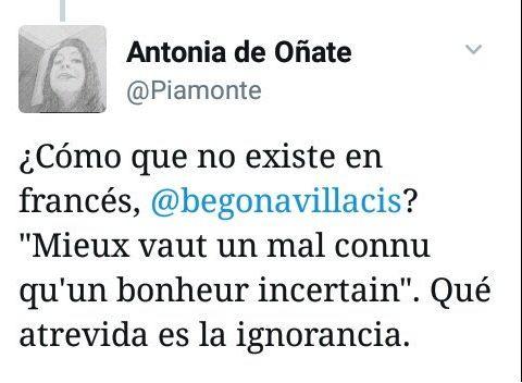 El tuit políglota de Begoña Villacís que se le vuelve (muy) en