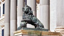 Los 'castellers' y los leones del Congreso de los