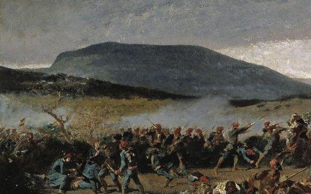Detalle de 'La batalla de Wad-Ras' de Mariano Fortuny (Museo del