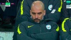 La cara de Guardiola tras perder con 'El City', carne de broma en