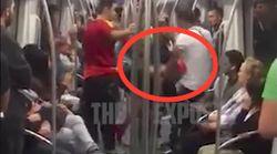 Los Mossos investigan esta agresión de un ultra en el metro de