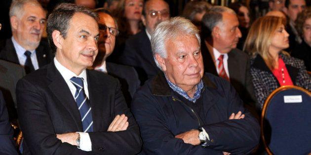 Zapatero y González no respaldan en público a
