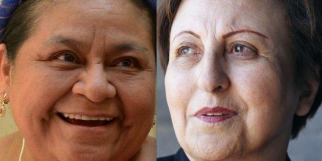 Rigoberta Menchu y Shirin Ebadi, dos de las firmantes de la