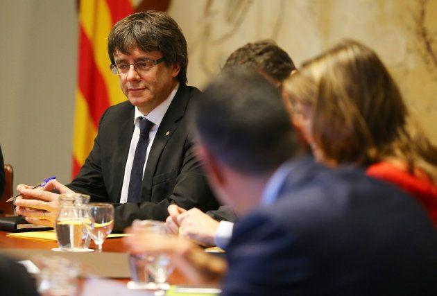El presidente catalán, Carles