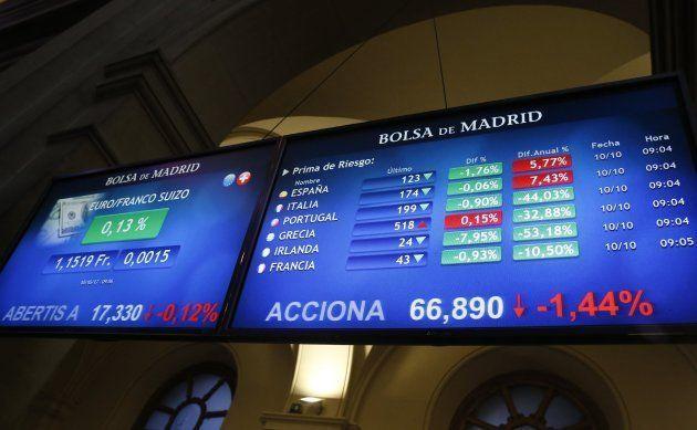El IBEX 35, principal indicador de la Bolsa española, profundiza la