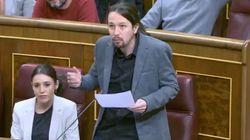 Pablo Iglesias protagoniza una intervención sin precedentes en el Congreso: