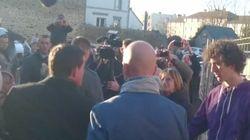 La reacción del guardaespaldas de Manuel Valls cuando dan un tortazo al