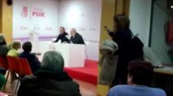 Soraya Rodríguez abandona una reunión del PSOE entre gritos de