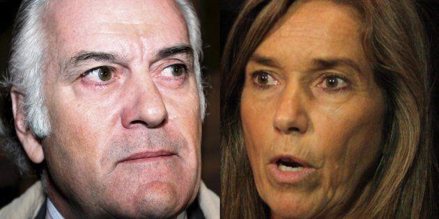 Luis Bárcenas y Ana Mato, en sendas fotos de