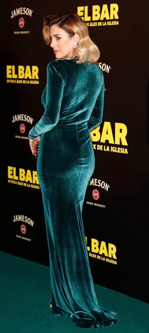 Blanca Suárez con su vestido, aquí