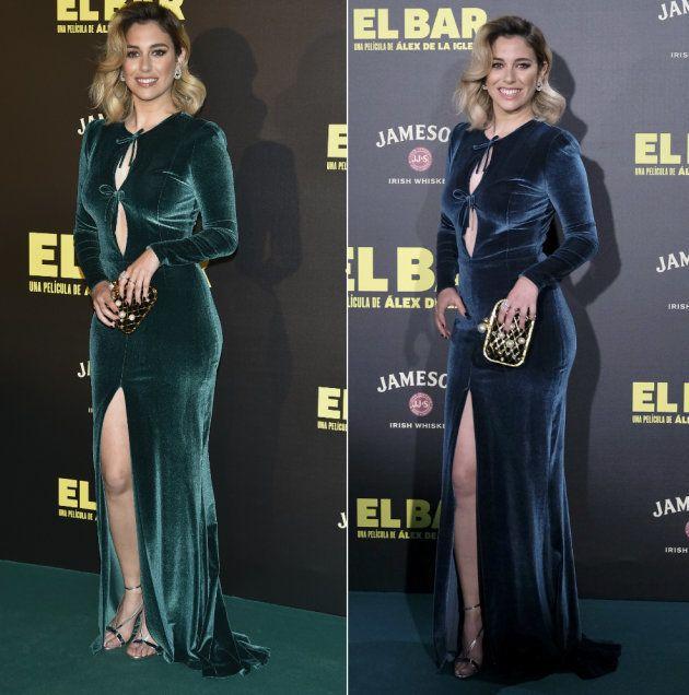 ¿Verde o azul? La duda está en el vestido de Fernando Claro que lució Blanca Suárez para el estreno de...