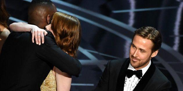 La comentada cara de Ryan Gosling después de conocerse que 'La La Land' había sido dada como ganadora...