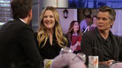 Drew Barrymore y Timothy Oliphant hacen 'photobomb' y vacilan a Pablo