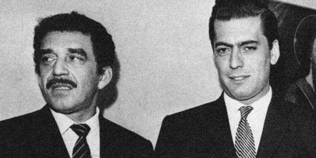 Gabriel García Márquez (Izquierda) y Mario Vargas