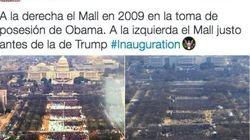 La diferencia entre las tomas de posesión de Obama y Trump en un